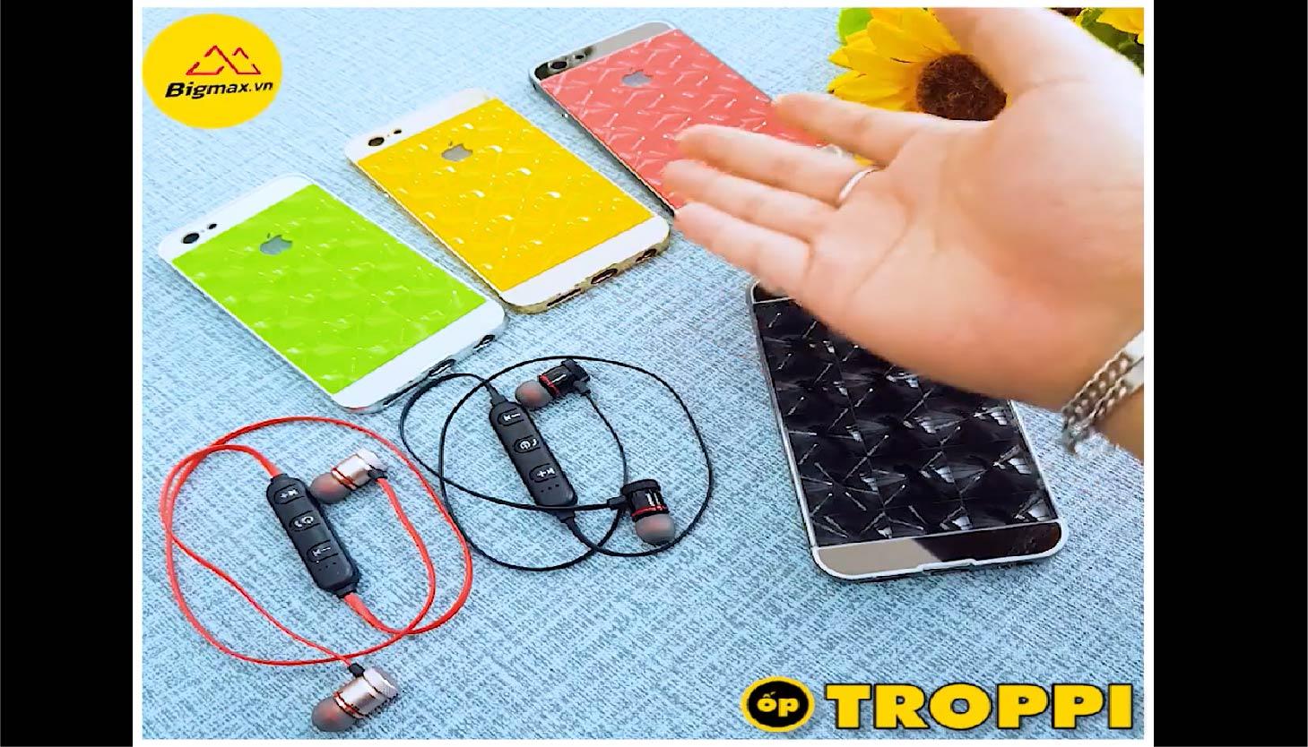 ỐP TROPPI DÀNH CHO IPHONE TẶNG TAI NGHE BLUETOOTH