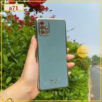 ỐP LƯNG TPU VIỀN VÀNG SANG CHẢNH DÀNH CHO SAMSUNG A71(mới)