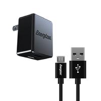 Sạc Energizer 2.4A 2USB màu đen kèm cáp MicroUSB - ACA2BEUHMC3