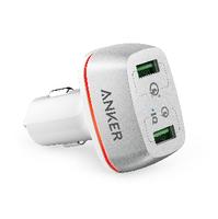 Sạc Ô Tô Anker 2 Cổng, 42w, Quick Charge 3.0 - (PowerDrive+ 2, 42w, QC 3.0) Màu Trắng A2224021