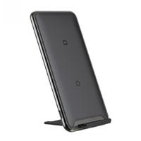 Đế sạc nhanh không dây Baseus 3 Coils Wireless Quick Charge cho iPhone 8/ iPX/ XR/ XS/XS Max/ Samsung S8/ S9/ Note 8/9 (10W, Qi Wireless Quick Charge)